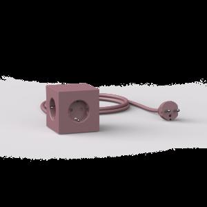 Avolt Square1 Skjøteledning med USB - Rød
