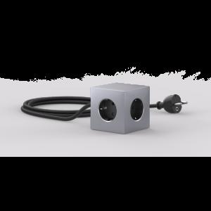 Avolt Square1 Skjøteledning med USB - Aluminium