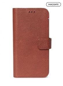 Decoded 2-i-1 lommeboketui for iPhone 12 / 12 Pro med MagSafe - Brun