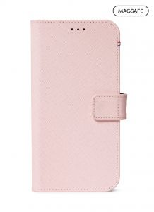 Decoded 2-i-1 lommeboketui for iPhone 12 / 12 Pro med MagSafe - Rosa
