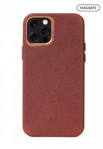Decoded Backcover skinndeksel med MagSafe til iPhone 12 Pro Max - Brun