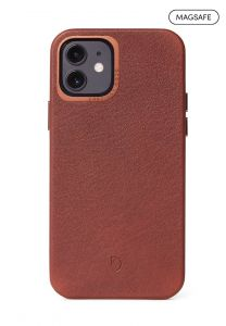 Decoded Backcover skinndeksel med MagSafe til iPhone 12 Mini - Brun