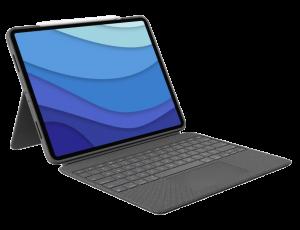 "Logitech Combo Touch tastatur til iPad Pro 11"" (3. gen) - Grå"