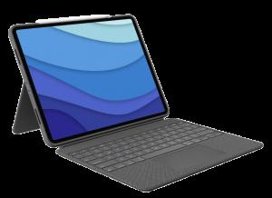 "Logitech Combo Touch tastatur til iPad Pro 12,9"" (5. gen) - Grå"