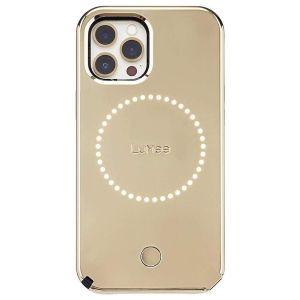Lumee Duo Mirror deksel til iPhone 12 / 12 Pro - Gull