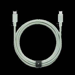 Native Union 3m USB-C til Lightning Belt ladekabel - Salviegrønn