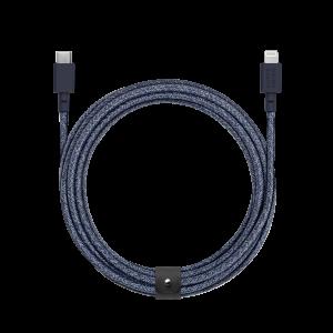 Native Union 3m USB-C til Lightning Belt ladekabel - Indigoblå
