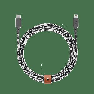 Native Union Belt 3 m USB-C til Lightning kabel - Zebrastripet