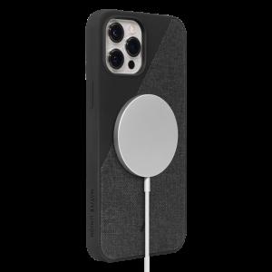 Native Union Clic Canvas deksel med MagSafe til iPhone 12 Pro Max - Svart