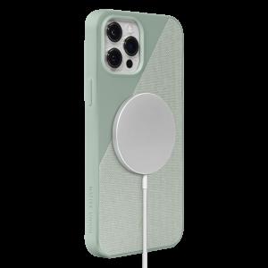 Native Union Clic Canvas deksel med MagSafe til iPhone 12 Pro Max - Salviegrønn
