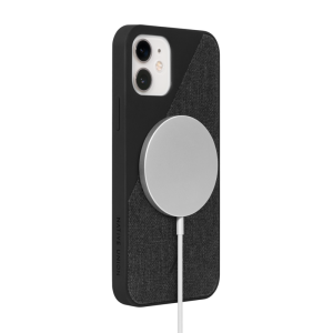 Native Union Clic Canvas deksel med MagSafe til iPhone 12 / 12 Pro - Svart