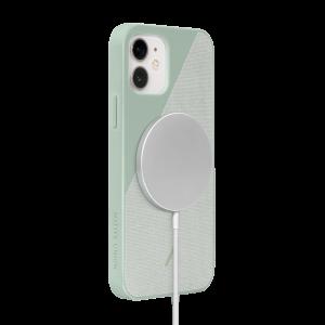 Native Union Clic Canvas deksel med MagSafe til iPhone 12 / 12 Pro - Salviegrønn