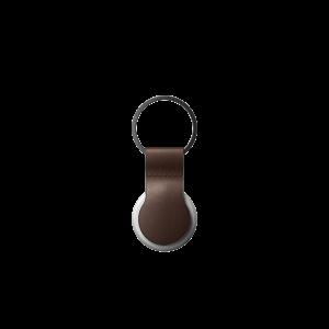Nomad AirTag Leather Loop - Brun