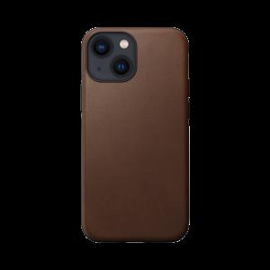 Nomad Modern Case MagSafe skinndeksel til iPhone 13 mini - Brun
