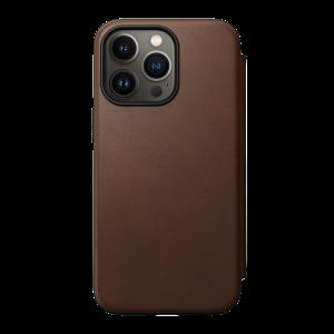 Nomad Modern Folio MagSafe etui til iPhone 13 Pro - Brun
