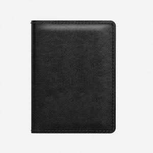 Nomad Slim lommebok i skinn med sporebrikke - Svart