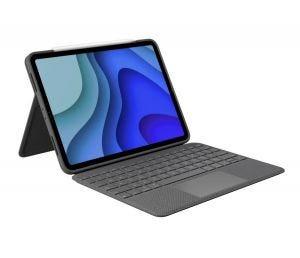"""Logitech Folio Touch tastatur for iPad Pro 11"""" (1. og 2. gen) - Grå"""
