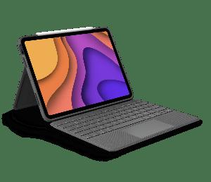 "Logitech Folio Touch tastatur for iPad Air 10,9"" (4.gen) - Grå"