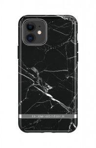Richmond & Finch deksel til iPhone 11 - Black Marble/Silver