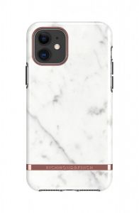Richmond & Finch deksel til iPhone 11 - White Marble/Rose