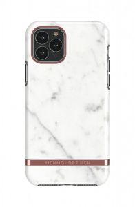 Richmond & Finch deksel til iPhone 11 Pro Max - White Marble/Rose