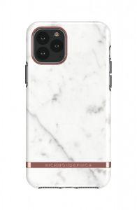 Richmond & Finch deksel til iPhone 11 Pro -  White Marble/Rose