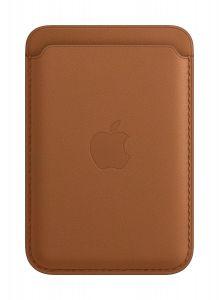 Lommebok i skinn med MagSafe til iPhone 12/12 Mini/12 Pro/12 Pro Max - Lærbrun