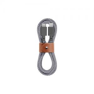 Native Union 1,2m Belt Kabel USB-C til Lightning - Zebrastripet