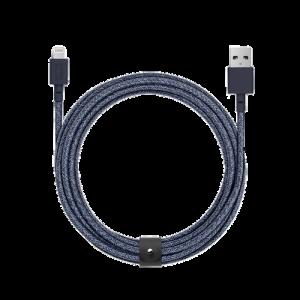 Native Union 3 m Lightning Belt kabel - Indigoblå