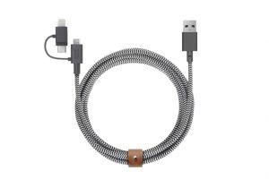 Native Union 2 m Universal Belt kabel - Zebrastripet