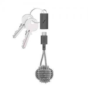 Native Union USB-C til Lightning Key kabel  - Zebrastripet