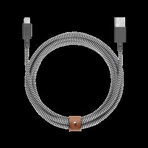 Native Union 3 m Lightning Belt kabel - Zebrastripet
