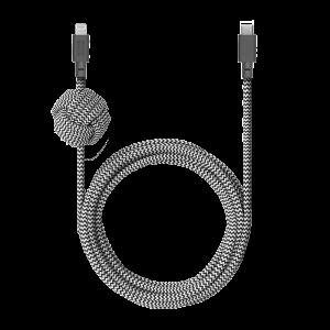 Native Union 3m USB-C til Lightning Night ladekabel - Zebrastripet