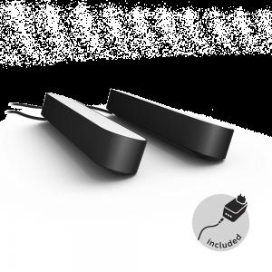 Philips Hue Play White and color ambiance lyslinje 2-pakk - svart