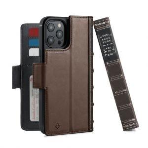 Twelve South BookBook lommeboketui for iPhone 12 Pro Max - Brun