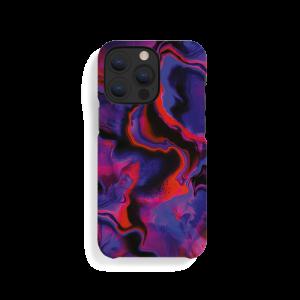 A Good deksel til iPhone 13 Pro - Purple Red Marble