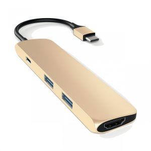 Satechi USB-C Multiport-adapter - gull