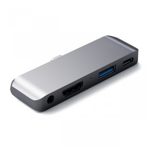 Satechi USB-C iPad Pro Hub (Stellar Grå)