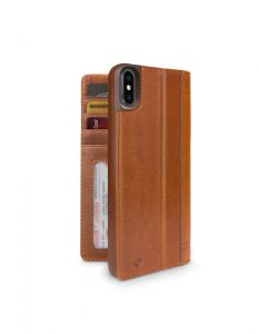 Twelve South Journal lommeboketui til iPhone XS Max - brun