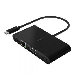 Belkin USB-C til multimedia adapter med lading