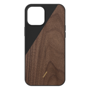 Native Union Clic Wooden deksel for iPhone 12 Pro Max - Svart