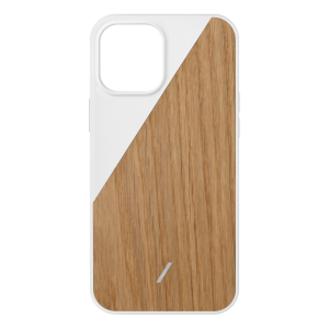Native Union Clic Wooden deksel for iPhone 12 Pro Max - Hvit