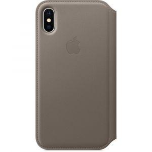 Apple folio-skinndeksel til iPhone X – muldvarpsgrå