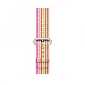 Apple vevet nylonrem 42 mm - rosa stripe