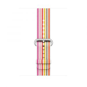 Apple vevet nylonrem 42 mm - rosa stripe