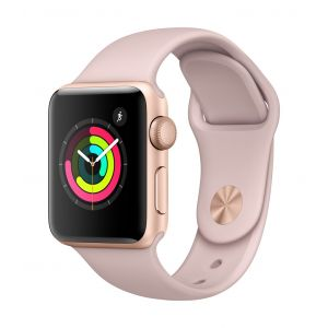 Apple Watch Series 3 GPS 38 mm - gull med sandrosa Sport Band