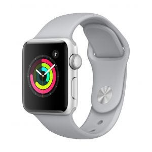 Apple Watch Series 3 GPS 38 mm - sølv med tåkegrå Sport Band