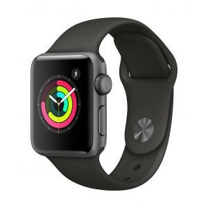 Apple Watch Series 3 GPS 38 mm - stellargrå med grå Sport Band