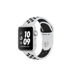 Apple Watch Series 3 GPS 38 mm Nike+ - sølv med platina/svart Nike Sport Band