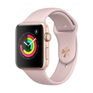 Apple Watch Series 3 GPS 42 mm - gull med sandrosa Sport Band
